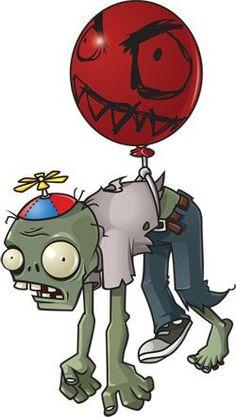 Halloween Costume How-To: Balloon Zombie Zombie Cartoon, Zombie Disney, Zombie Art, Zombies Vs, Plants Vs Zombies 2, Red Balloon, Balloons, Plantas Versus Zombies, Ideas Party