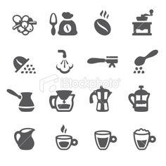 Mobico icons - Espresso Coffee Royalty Free Stock Vector Art Illustration