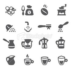 Mobico icons - Espresso Coffee Royalty Free Stock Vector Art Illustration