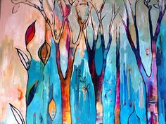 like a tree, planted, unique, and full of color - I love this artist's work