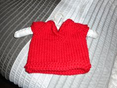 Hand Knit Baby Sweater Unisex Baby Sweater Red by bonitastewart