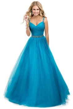 2014 Prom Dress Tulle Ball Gown With Jeweled Straps Yellow Open Back - $166.99 - http://www.elleprom.com/2014-Prom-Dress-Tulle-Ball-Gown-With-Jeweled-Straps-Yellow-Open-Back