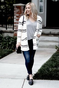 Women winter casual outfits with cardigan must Mom Outfits, Simple Outfits, Outfits For Teens, Casual Winter Outfits, Fall Outfits, Boho Fashion, Fashion Outfits, Curvy Fashion, Cardigan Outfits