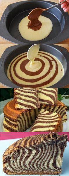 Receita Bolo de Zebra Delicioso Receita Bolo de Zebra DeliciosoYou can find Recette facile and more on our website. Torta Zebra, Zebra Cakes, Cake Cookies, Cupcake Cakes, Cupcakes, Cake Recept, Dessert Parfait, Cookie Recipes, Dessert Recipes