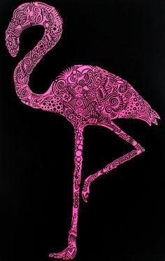 Flamingo Birthday Doodle by ~Ixilder on deviantART