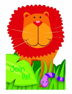 Jungle Animals Folded Invitations
