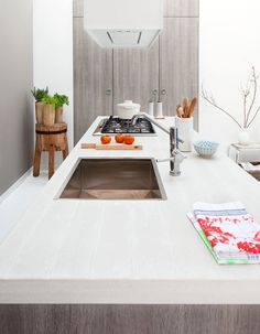 Those that have children could be wise to use slip covers when making any room. Slip covers will offer a variety of furniture and pets. You will possess the seasons change. Industrial Kitchen Design, Kitchen Interior, Kitchen Decor, Classic Kitchen, New Kitchen, Kitchen Sink, Sweet Home, Scandinavian Kitchen, Decoration