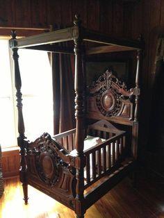 beautiful antique crib