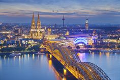 The Best Cities in Europe - Cologne, Germany Best Cities In Europe, Heart Of Europe, Bergen, Anime City, Berlin City, Berlin Wall, Cologne Germany, Cool Places To Visit, Beautiful Places