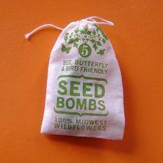 Seed bomb wedding favors