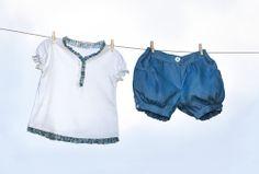 light t-shirt and jersey shorts