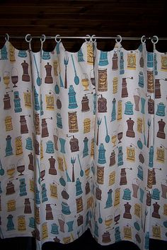 goofy pattern, notice the clips...u could do white or black (black would be more contemporary with the right fabric)