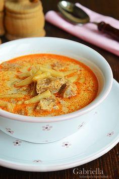 Gabriella kalandjai a konyhában :): Palóc leves -akár bográcsban készítve Thai Red Curry, Vitamins, Food And Drink, Cook Books, Meals, Dishes, Baking, Drinks, Ethnic Recipes