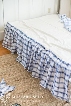 how to make a ruffled bedskirt (with a no sew option) - Miss Mustard Seed