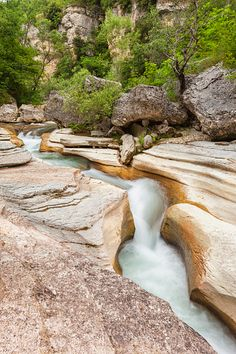 The canyon made by the river Orta, Majella National park, Pescara, Abruzzo…