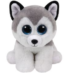 This Buff Beanie Babies Husky Dog Plush is a gray and white polyester plush that is shaped like a husky dog. Kids and collectors alike will love this soft plush toy! Baby Husky Dog, White Husky Dog, Le Husky, Baby Huskies, Siberian Huskies, Ty Beanie Boos, Ty Peluche, Wolf Plush, Original Beanie Babies