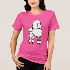 Fancy Poodle Dog Pink T-Shirt - fancy gifts cool gift ideas unique special diy customize