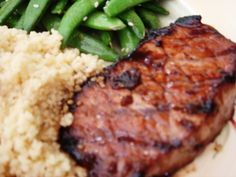 Grilled Teriyaki Pork Chops. (I make this all the time but bake it at 350' for one hour, if it's thick chops) LOVE IT!!!!