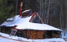 sugar shack in winter