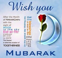 Happy eid Mubarak for all Muslims in this universe