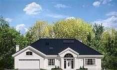 Dom nawiązuje stylistycznie do House Plans Mansion, My House Plans, Bungalow House Design, Modern House Design, Best Solar Panels, Cottage Plan, Facade House, Home Fashion, Future House