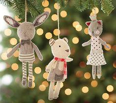 Linen Ornaments | Pottery Barn Kids