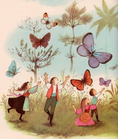Thumbelina - by Hans Christian Andersen, illustrated by Adrienne Adams (1961).