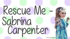 Rescue Me By Sabrina Carpenter With Lyrics Original Audio (No Pitch) Comment Any Song Suggestions Below I Do Not Own This Song ------------------------------. Wedding First Dance, Wedding Songs, Song Suggestions, Thing 1, All Songs, Girl Meets World, She Song, Sabrina Carpenter, Famous People