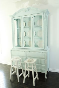 Beautiful painted hutch.