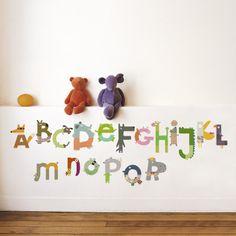 Animal-Alphabet (Wall Sticker).