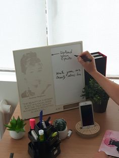 Inspiration board (personalized) - Choose your photo and we carve - meaningful gift -Vision board - Dry erase board - Wood wall art - Eco-wood - Home office - top of the work desk studio gallery wall - inspirational working environment - home workspace ideas - personalized - the law of attraction - the power of mind - 3D wood art - motivational quotes - freelancer - wedding board  - pixels you can touch - 3D carving - 3D wood art - original gift for birthday - by day3dream on Etsy