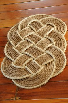 Nautical Front Door Rug Rope Mat Ocean Plait Decor 32 X 20