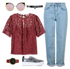 """Untitled #2284"" by lauraafreedom ❤ liked on Polyvore featuring Topshop, Kenzo, Fallon, Fendi and Larsson & Jennings"