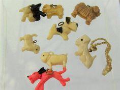 Vintage Celluloid Cracker Jack Dog Charms $9.99 Ebay Auction.