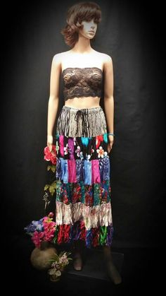 Boho Chic Skirt - Colorful Boho Dress - Bohemian Clothing - Patchwork Skirt - OOAK Hippie, Gypsy Patchwork Skirt - Draw String Maxi Skirt Check out this item in my Etsy shop https://www.etsy.com/listing/265066859/boho-chic-skirt-colorful-boho-dress