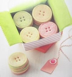 Button cookies for craft party.