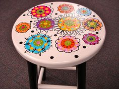 flower footstool