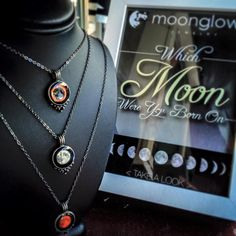 Dreams are often made in a single moment. Capture that moment for your dreamer in a necklace representing the moon that hung in the sky on the day of any special occasion ($42).
