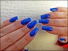 glitter blue nails # stunning