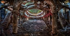http://www.abandonedplaygrounds.com/the-abandoned-church-of-zeliszow-and-the-architecture-of-carl-gotthard-langhans/
