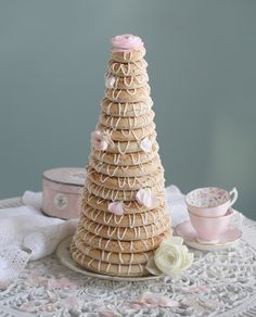 Kransekake - Norwegian Almonds Cookies Recipe @ Passion 4 baking - gluten free