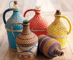 Vintage Wine Jugs - NapaStyle. An idea for my glass jars