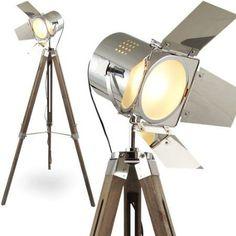 Unique L MOJO STEHLAMPE STEHLEUCHTE TRIPOD LAMPE SHABBY CHIC TRIPODLAMPE BAUHAUS CINEMA STATIVLAMPE DREIBEIN KINO LAMPE TISCHLAMPE