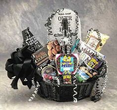 Over The Hill Birthday Basket - Small