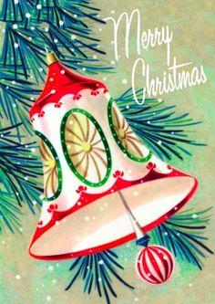 Retro Bell | Christmas Card