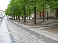 Berlin pavement #streetscape #germany #stone #pedestrian #green #place_making