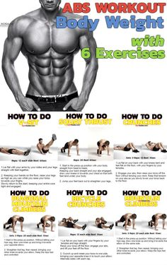 6 Best Body weight Exercises To Train Your Core. Smash your abs after a workout … 6 Best Body weight Exercises To Train Your Core. Smash your abs after a workout with these great exercises, that can be performed at… Continue Reading → Abs Workout Routines, Gym Workouts, At Home Workouts, Workout Bodyweight, Abs Weight Workout, Ripped Workout, Ab Routine, Best Body Weight Exercises, Academia Fitness