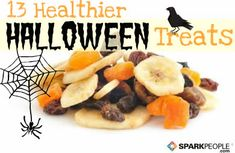 Healthier treats for #Halloween that kids will actually like. Some great ideas here! | via @SparkPeople #fall #healthy #nutrition #food