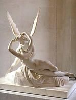 My favourite statue in the Louvre. Antonio Canova's depiction of Psyche and Cupid.