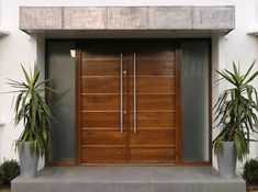 Creative of Contemporary Double Front Doors Inspiring Modern Double Entry Doors And Brilliant Modern Double House Front, Contemporary Front Doors, House Exterior, House Doors, Front Entrance Ways, Entrance Doors, Entry Doors, Front Door Design, Doors